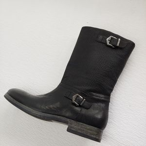 Igi & Co Short Moto Boot Textured Made in Italy